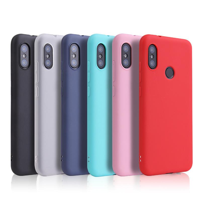 f0ca7d098f66c Чехлы для Xiaomi redmi Note 6 Pro силиконовые матовые все цвета ...