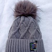 Зимняя шапка для мальчика размер 50- 52 на 1- 2 года, фото 1