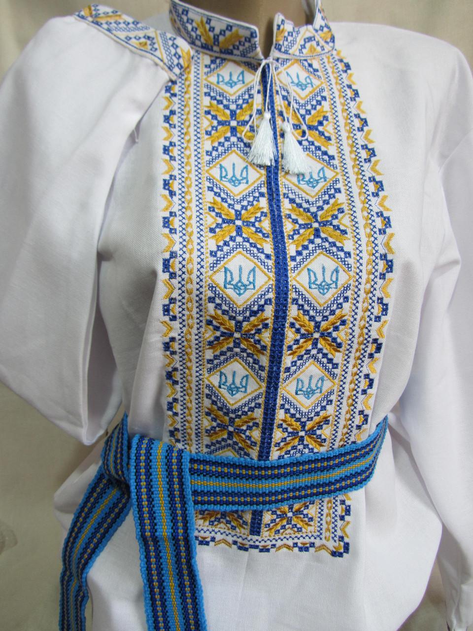 """Вышиванка на полотне домотканом """"Воля"""", 42 и 50 р-ры, 650/500 (цена за 1 шт. + 150 гр.)"""