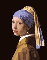 Картина по номерам Девушка с жемчужной сережкой Ян Вермеер (BK-G223) 40 х 50 см  [Без коробки]
