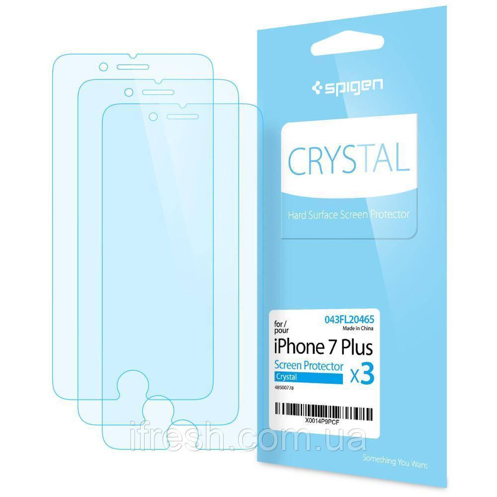 Защитная пленка Spigen для iPhone 8 Plus / 7 Plus, 3шт