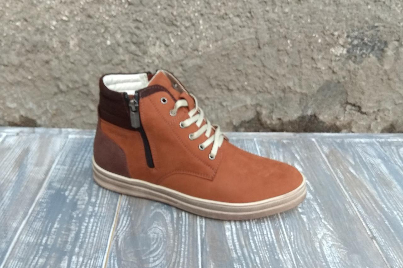 Стильні руді черевики на зиму - чудова модель для повсякденного використання!