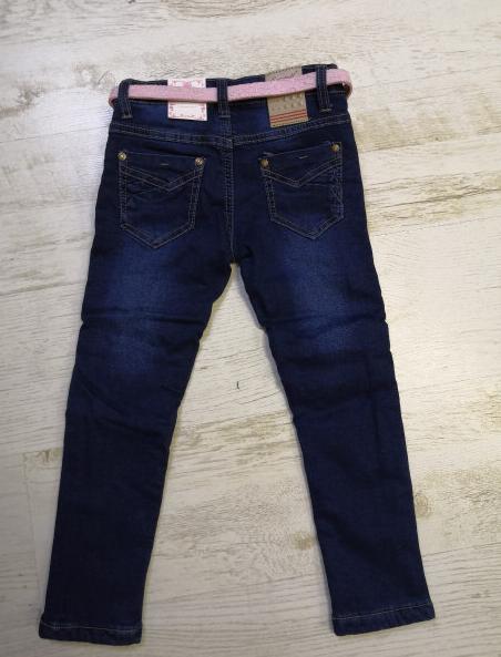 Джинсовые брюки на флисе для девочек, Венгрия, Seagull, рр. 116,134,146 рр., арт. CSQ-89902 ,