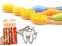Бамбуковые зубные щетки Нано Желтые 4шт. 96-9310222