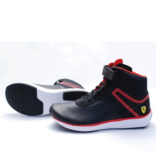 Кроссовки-кеды мужские Puma Ferrari F116 MID 305823 01 (черные,  повседневные, комбинированные 706e40eb16c