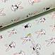 Ткань поплин зайцы с коронами и сердечками на мятном (ТУРЦИЯ шир. 2,4 м) №33-147, фото 2