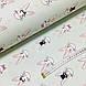 Ткань поплин зайцы с коронами и сердечками на мятном (ТУРЦИЯ шир. 2,4 м) №33-147, фото 3