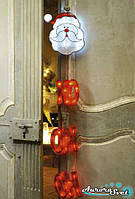 LED гирлянда Санта Клаус  (40 шт) от батареек. Светодиодная гирлянда. Гирлянда LED. Производство Франция.