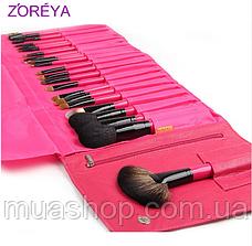Натуральні кисті Z ' OREYA 22 шт в чохлі (Рожевий), фото 3