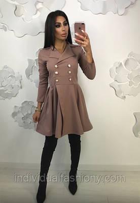 Платье-пиджак приталенное
