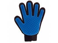 Перчатка для вычесывания шерсти животных True Touch (Тру Тач) левая рука