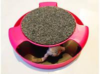 Когтеточка с игрушкой Сatch the mouse розовая