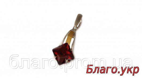 Кулон серебряный с золотыми накладками