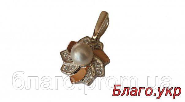 Серебряный кулон со вставками золота 151