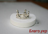 """Серебряное кольцо """"Корона"""" с камнями 925 пробы, фото 1"""