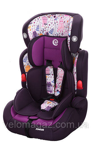 Детское автокресло El Camino ME 1008-1 JUNIOR фиолетовый цвет