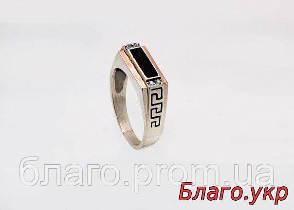 """Мужское кольцо перстень """"Орион""""  серебро с золотом"""