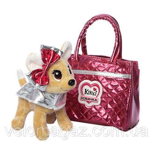 Собачка Кикки в сумочке, интерактивная игрушка 22 см, M 3642-N-RU