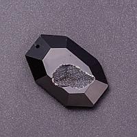 """Кулон жеода """"Восьмиугольник"""" из черного тонированного Агата 3,5х4,5см (+-)"""