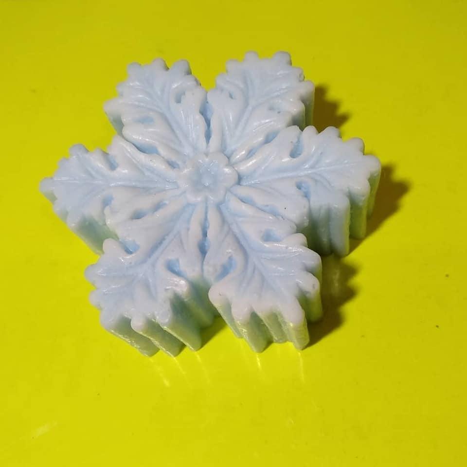 Мыло натуральное, Снежинка на подарок