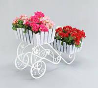 Подставка для цветов Тачка 2 Кантри. ББ, фото 1