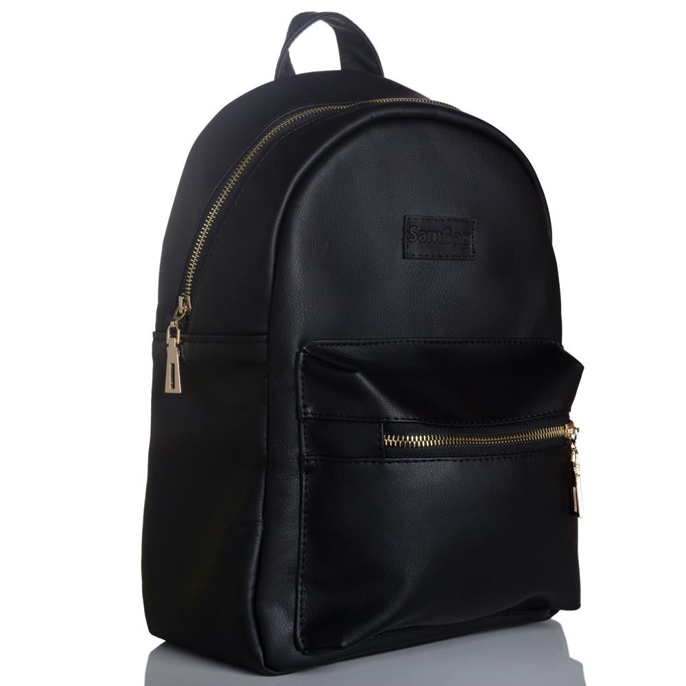 Стильный женский рюкзак чёрный SamBag Самбег чёрный разные размеры 12315001n
