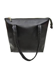Жіноча сумка Sambag чорная 41х31 см. з еко-шкіри