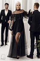 Вечернее платье с воланом