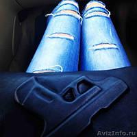 Женский клатч с пистолетом  синий