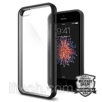 Чехол Spigen для iPhone SE/5S/5 Ultra Hybrid, Black