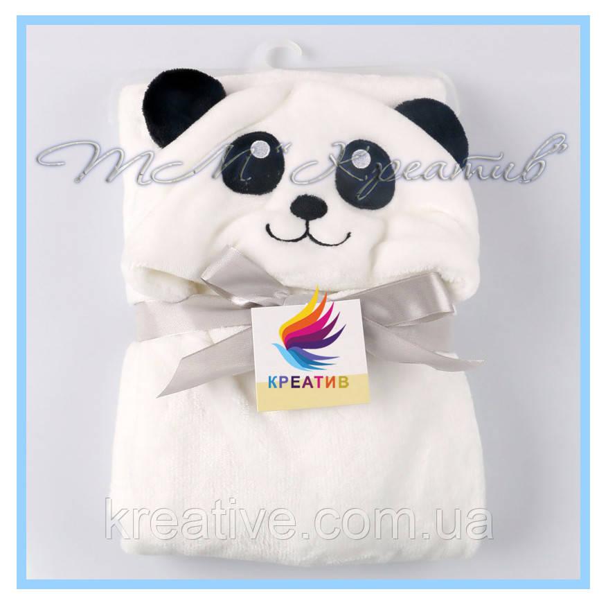 Флисовые детские пледы панды от 50 шт