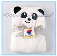 Флисовые детские пледы панды от 50 шт, фото 1