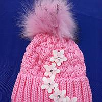 Зимние шапки для девочек  на 1- 2 года размер 44- 48 на завязках, фото 1
