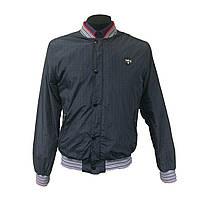Темно-серая весеняя мужская куртка-ветровка Mondo
