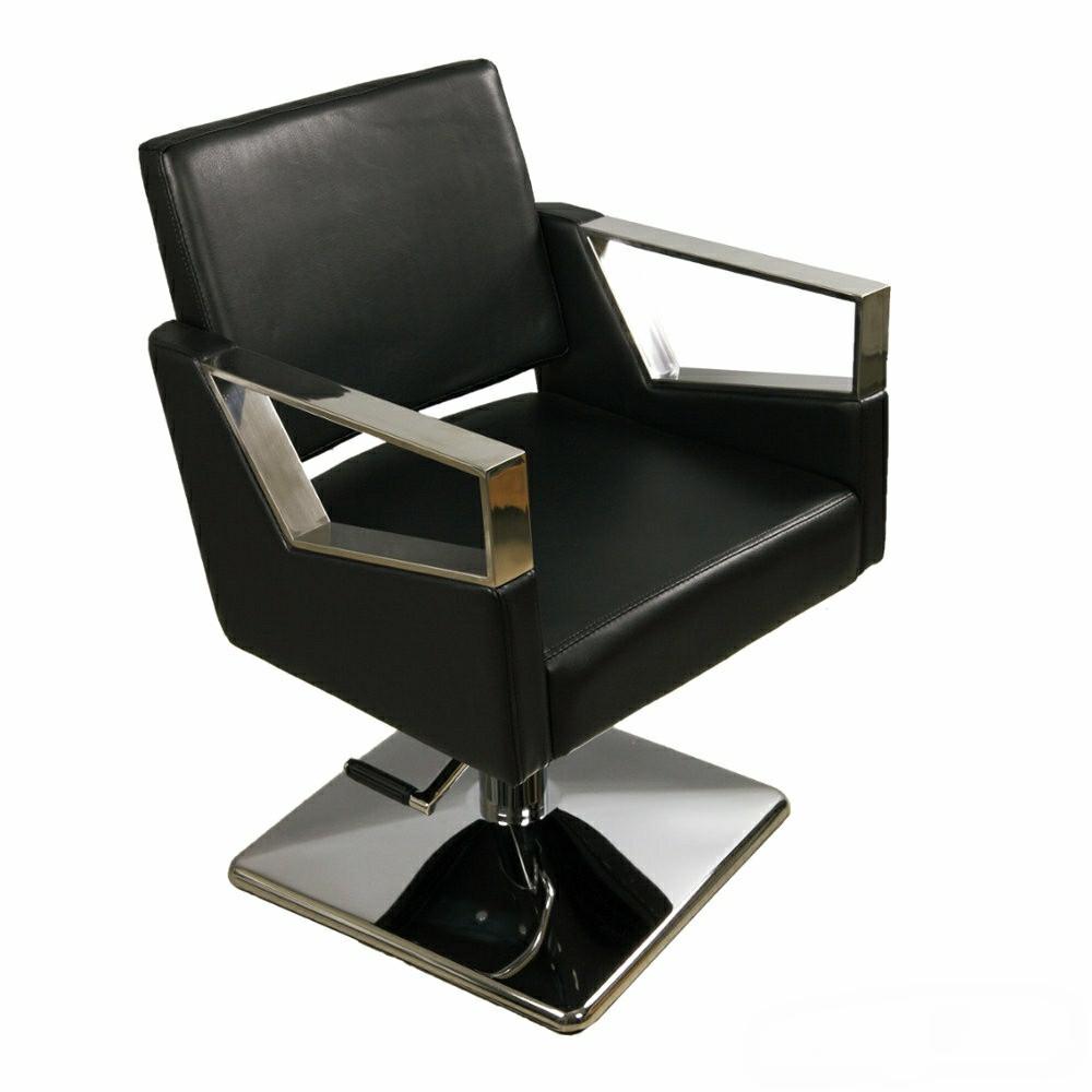 Парикмахерское кресло для салона красоты на квадрате+гидравлика А016