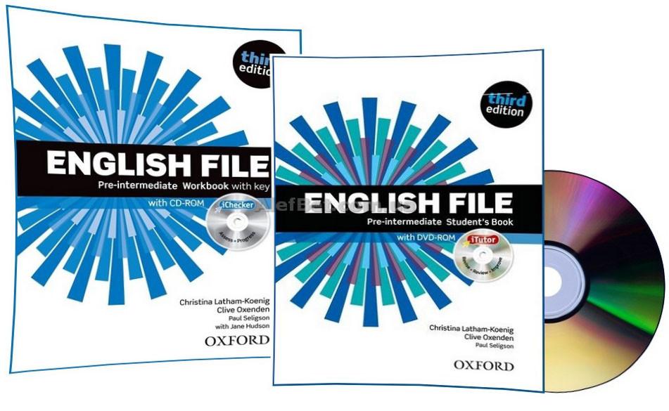 Английский язык / English File / Student's+Workbook+DVD. Учебник+Тетрадь (комплект), Pre-Intermediate / Oxford