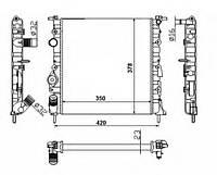 Радиатор охлаждения двигателя Renault CLIO II (BB0/1/2_, CB0/1/2_) 1998-