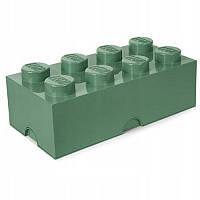 Восьми точечный темно зеленый контейнер для хранения Lego PlastTeam 4004, фото 1