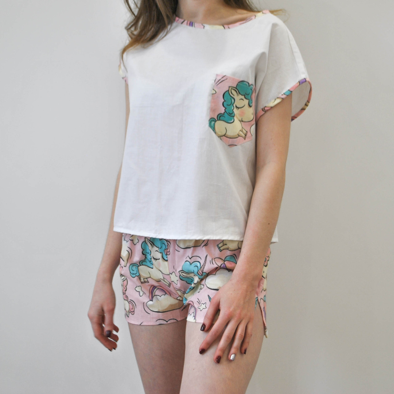 Пижама женская Единороги 100% хлопок