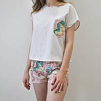 Пижама женская Единороги 100% хлопок, фото 1