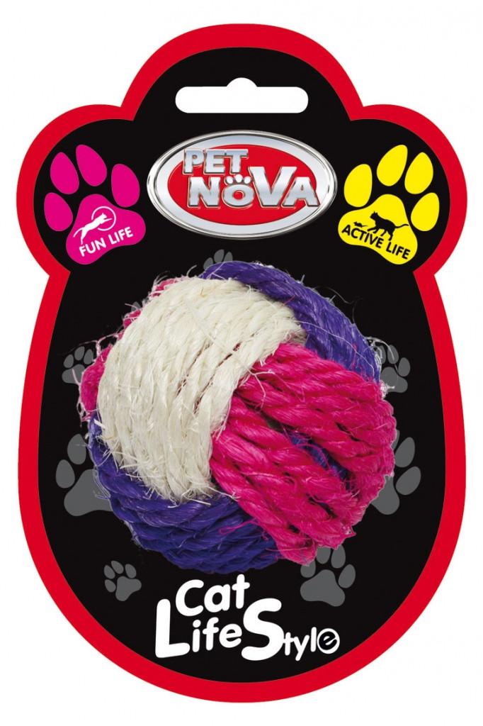 Игрушка для кошек Плетёный мяч Pet Nova 6 см