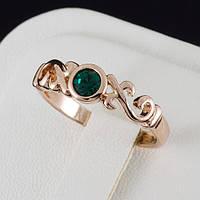Упоительное кольцо с кристаллами Swarovski, и позолотой 0194, фото 1