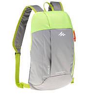 Рюкзак Quechua ARPENAZ серый с салатовым 2035763 10 л