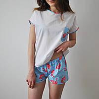 Пижама женская (Фламинго) 100% хлопок, фото 1