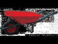 Тачка Verdi садовая 1-колесная, 65л, 130 кг красный кузов