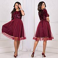 """Вечернее нарядное бордовое платье размер S """"Рандеву"""""""
