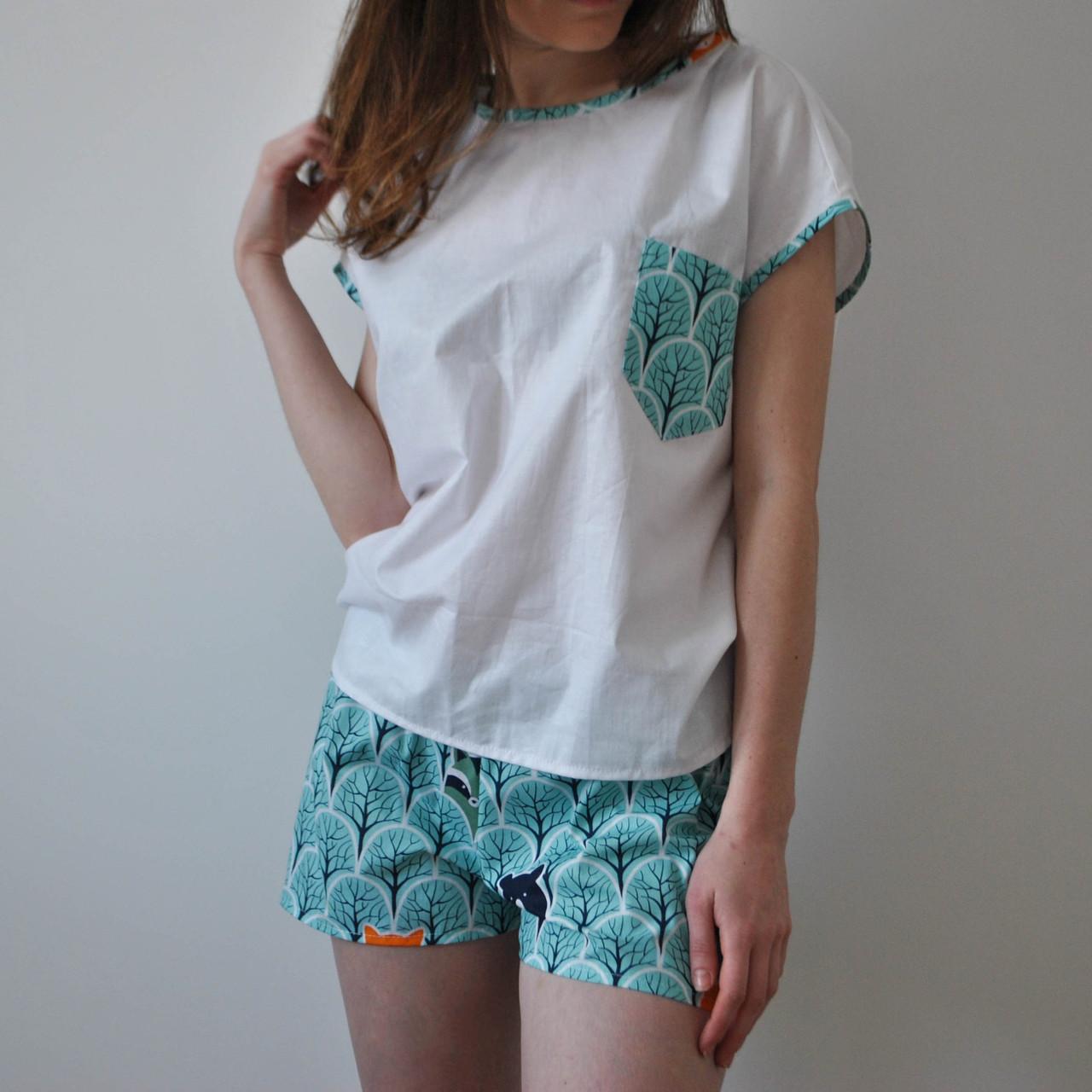 Пижама женская (Лес) 100% хлопок