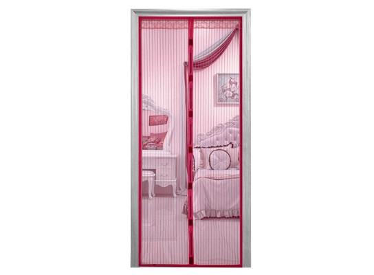 Дверная антимоскитная сетка на магнитах бордовая 429-42715300