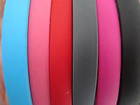 Уценка!!! Обруч для волос прорезиненный розовый 1 см (маленьк. точечки внизу, непрокрасики на боковой стороне)