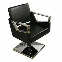 Парикмахерское кресло на квадратной базе А 016 с гидравлическим подъёмником для салонов красоты